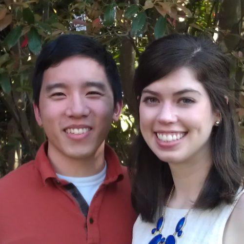 Hugh Quach and Lauren Brown