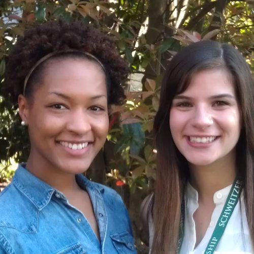 Asha Thomas and Amanda Cadena