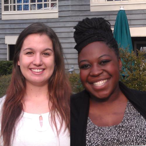 Amber Heckart and Lucy Muhirwa